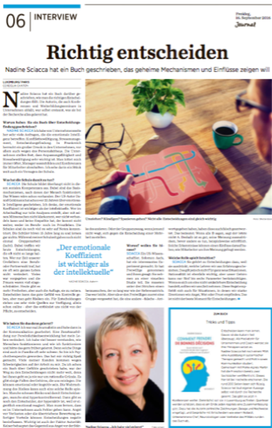 Interview published in the Lëtzebuerger Journal September 2016